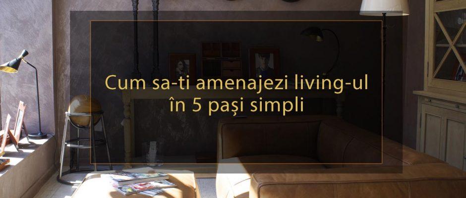 cum sa-ti amenajezi living-ul in 5 pasi